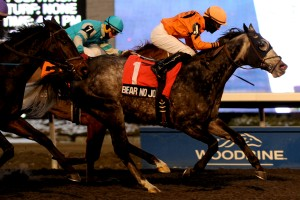 Woodbine November 30 2013 Kennedy Road Stakes Bear No Joke Jockey Emma-Jayne Wilson WEG/michael burns photo