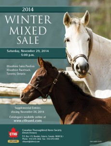 CTHS 2014 Winter Mixed Sale Saturday November 29 at 5:00 pm Catalogue now available online