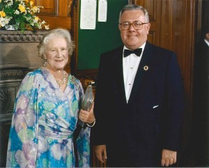 Jack Kenney with the Queen Mother Michael Burns photo