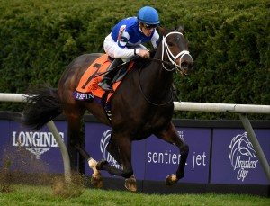 Lexington, KY - Keeneland - Tepin with Julien Leparoux aboard wins the $2 Million Breeders' Cup Mile for trainer Mark E. Casse and owner Robert E. Masterson here today, Saturday October 31, 2015 during the Breeders' Cup World Thoroughbred Championships. Photo by © Breeders' Cup/Gary Mook 2015