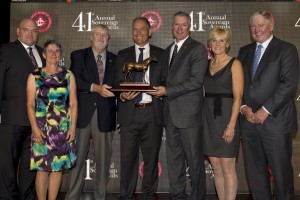Catch a Glimpse owners and breeder accept the award for 2015 Horse of the Year